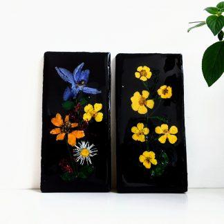 Bloemen op keramiek